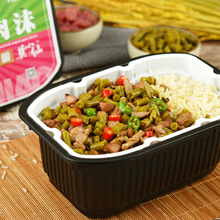 Mo Xiaoxian's self heating rice, self heating lazy people's convenience, instant food, bamboo shoot beef / sour bean curd, meat foam, outdoor rice