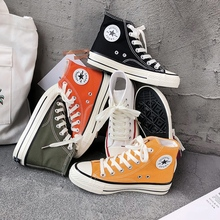 Women's high top canvas shoes 2019 new style students take all kinds of Korean summer cloth shoes ulzzang retro shoes