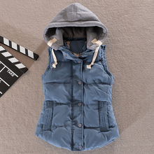 Direct approval of large size foreign trade warm cotton vest in Korean version