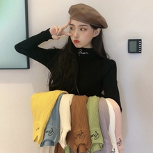 Autumn and winter new style with black long sleeve high neck bottoming