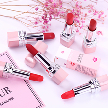 Lipstick for schoolgirls, lasting moisturizing, non discoloring, non stick cup, Korean waterproof, moisturizing, positive red, matte