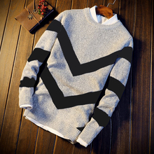Korean knitting thickened warm round neck sweater in autumn and winter