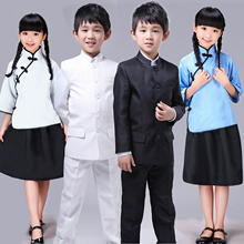 New style wind and ancient costume boys and girls 54 children clothing children collective chorus recitation performed