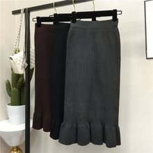 New mid length skirt knitted in autumn and winter