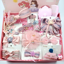 Children's hairdressing set gift box combination Princess handmade cloth birthday 61 gifts girl's headdress combination
