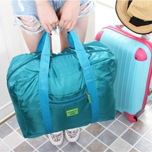 Korean Travel Bag Waterproof Portable Packing Clothes on Suitcase Clothes Hand-held Pull-rod Bag