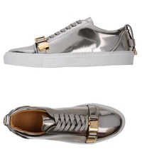 Authentic Buscemi Buscemi men's silver leather sports shoes