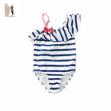 Children swimsuit girl, Simi love girl, girl child, baby swimsuit, Concord stripe, INS baby swimsuit
