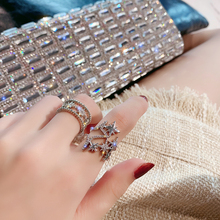 Open personality, fashion, simple, hollow star index finger ring, female ins fashion, Korean version, net red cold wind ring