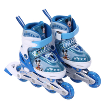 Disney genuine skates, boys and girls, roller skates, full set of roller skates, straight row skates and adjustable ice flashes.