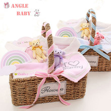 Newborn baby gift boxes, clothing sets, essential products, 0-3 months, baby girls, autumn and winter cotton