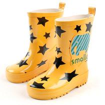 韩国儿童雨鞋男女孩防滑高筒雨靴可爱宝宝水软鞋橡胶可配雨衣套装