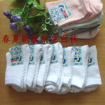 儿童 袜子/春夏款学生白袜 灰色学生袜外贸袜男女儿童袜子纯棉袜薄白袜子