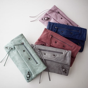 whosbag purchasing authentic Korean candy colored clutch motorcycle bag rivets wild European and American fion diagonal package