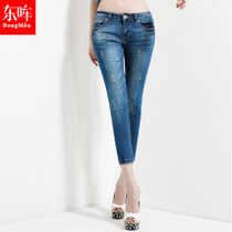 Spring-summer Korean version of tight pencil thin slim stretch jeans