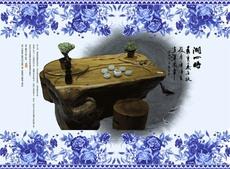 Резной чайный стол Large family