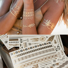 European and American fashion retro bronzing tattoo, waterproof, shiny, personalized, STICKER Stickers, lovers, swimming and swimming.