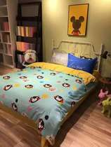 IKEA cotton cotton ABC clean cartoon Hat activity of printed edition green sheets bed bed four set