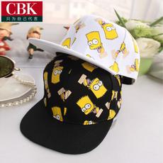 帽子 男女美版夏天潮辛普森情侣嘻哈帽平沿帽 亲子棒球帽鸭舌帽