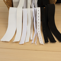 High quality black and white rubber band elastic thickness of thin flat DIY sewing garment elastic band width 0.3-5cm cm