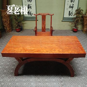 鸡翅木实木大板巴花现货 红花梨黄花梨原木实木大板桌商务奥坎木