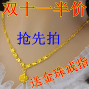 CTF 18K gold necklace Ladies 18K Gold dolphin necklace beads gold pendant gold pendants transporter
