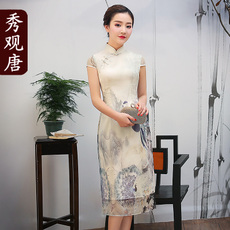 Cheongsam dress Show in Tang q7083