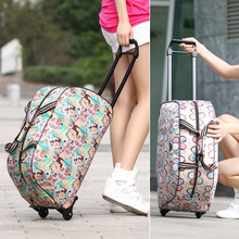 Short distance large capacity waterproof trolley bag small handbag Travel Bag Fashion Korean men's and women's boarding bag travel bag