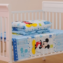 Custom-made crib nursery three piece suite in natural cotton bed sheet cotton bedding-core
