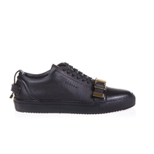 Low quality goods bought BUSCEMI men in black grain leather for sport casual shoes 417 sm05 locks shoes
